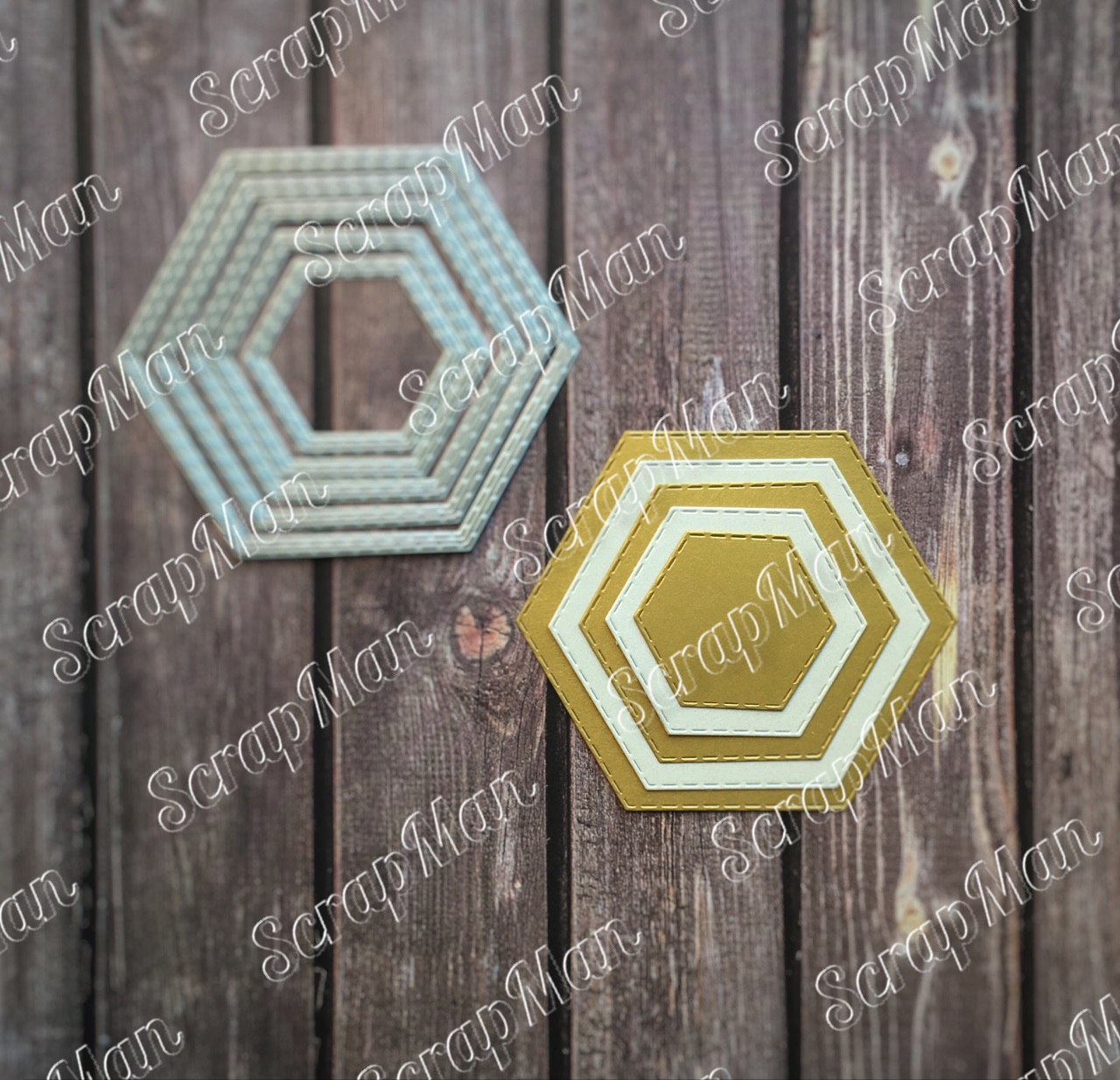 "Set of Dies ""Hexagons"", Scrapman"