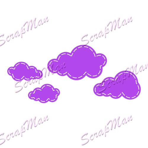 "Set of Dies "" Set Clouds ""   Scrapman"