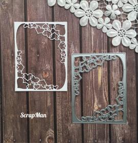 "Die ""Rectangular frame with Hearts"", Scrapman"