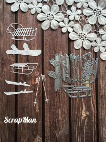 "Set of Dies ""Set christmas Funs"" ScrapMan"