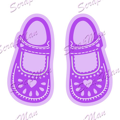 "Set of Dies ""Girl's Sandals"" ScrapMan"
