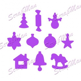 "Set of Dies ""Christmas Decorations""  ScrapMan"