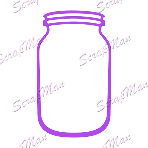 "Die ""Glass Jar"" ScrapMan"
