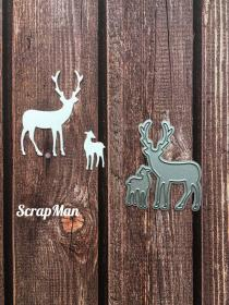 "Set of dies ""Deers"" ScrapMan"