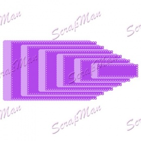 "Set Dies "" Rectangles with the scallop""  ScrapMan"
