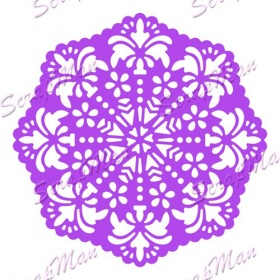 "Die "" Patterned Doily 3 ""  Scrapman"