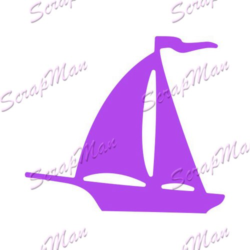 "Die "" Sailboat ""  Scrapman"
