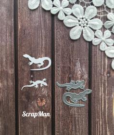 "Set of dies ""The Lizards"" ScrapMan"
