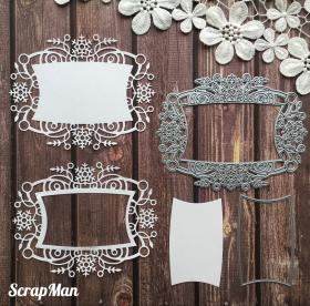 "Set of Dies  ""Frame  with snowflakes"" ScrapMan"