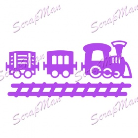 "Set of dies ""  Set Train ""  ScrapMan"