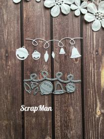 "Set of Dies ""Set Garland"" ScrapMan"