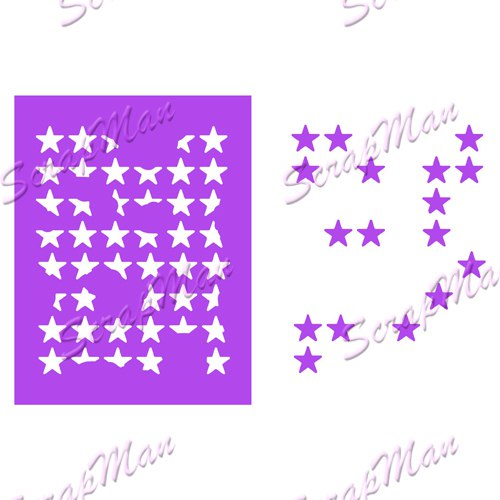 "Die ""Collage Stars""   Scrapman"