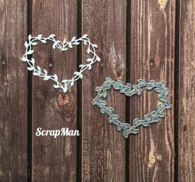 "Die ""Frame Heart with Leaves"", Scrapman"