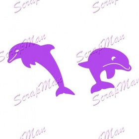 "Set of dies "" Dolphins ""  Scrapman"