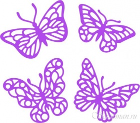 "Set of Dies ""Set Butterfly 3"" ScrapMan"