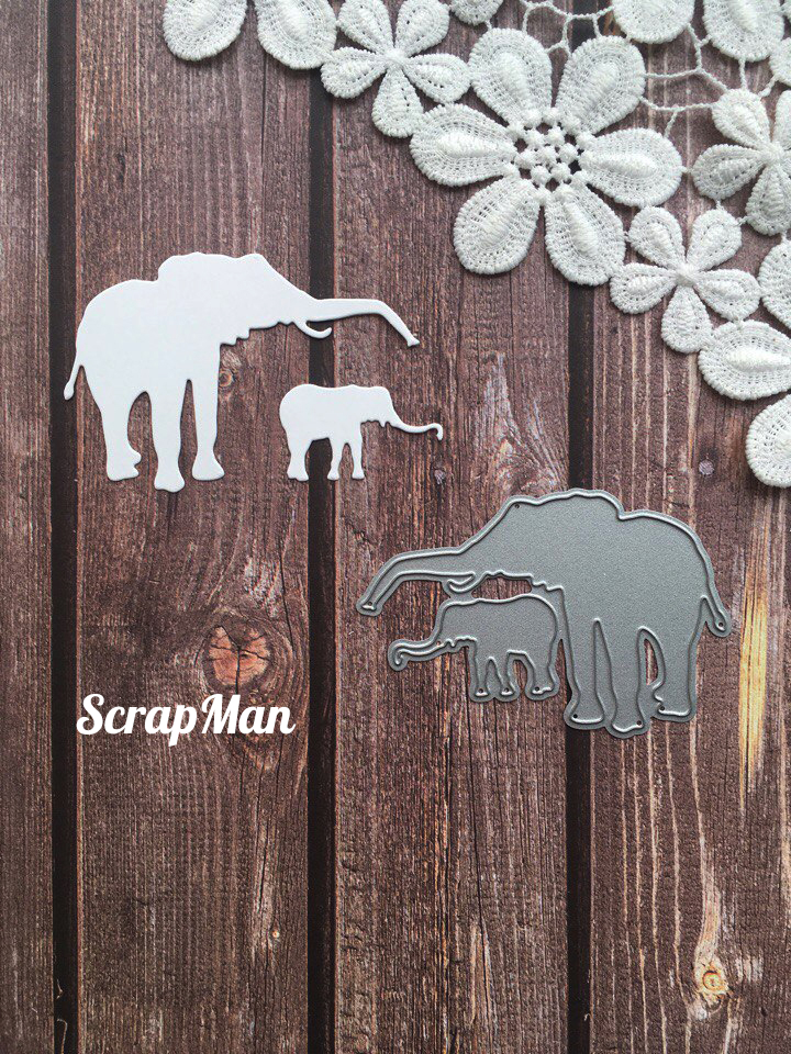 "Set of dies ""Elefants"" ScrapMan"