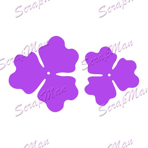 "Set of Dies ""Set of Flowers-4""  ScrapMan"