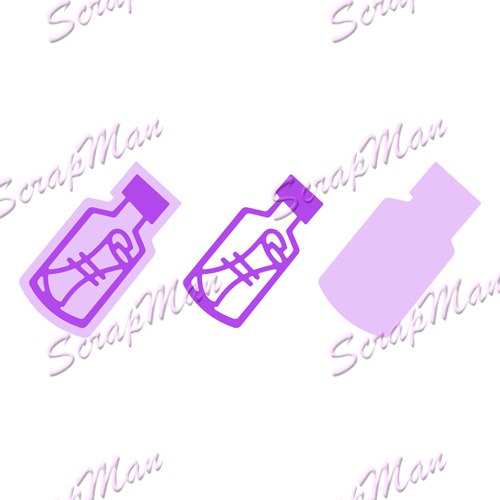 "Set Dies ""Bottle Message""  Scrapman"