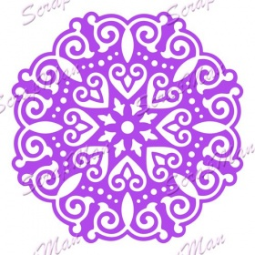 "Die "" Patterned Doily 2 ""  Scrapman"