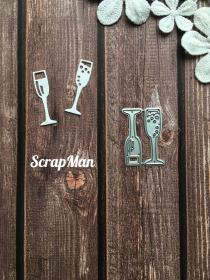 "Die  ""The Glasses with Champagne"" ScrapMan"
