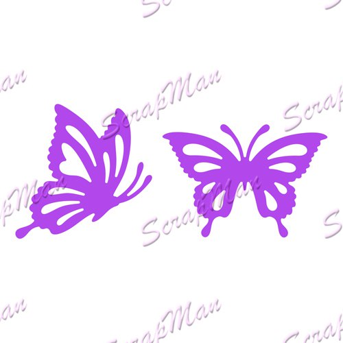 "Set of Dies "" Set Butterflies 1 "", Scrapman"