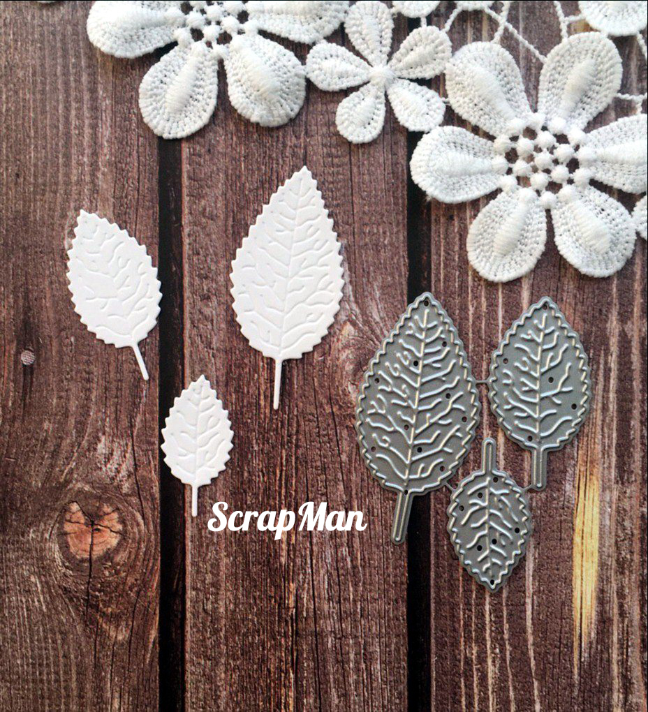 "Set of Dies ""Rose Leaves"" ScrapMan"