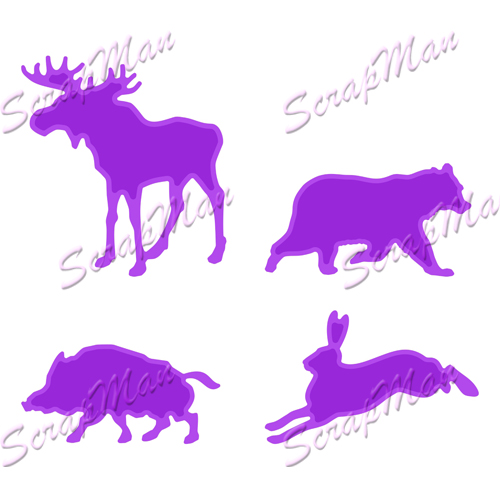 "Set of dies ""Forest Animals"" ScrapMan"