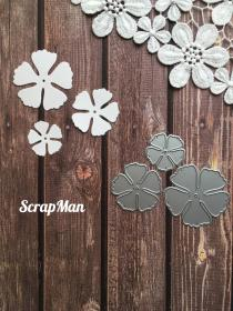 "Set of dies  ""Flower 4"" ScrapMan"