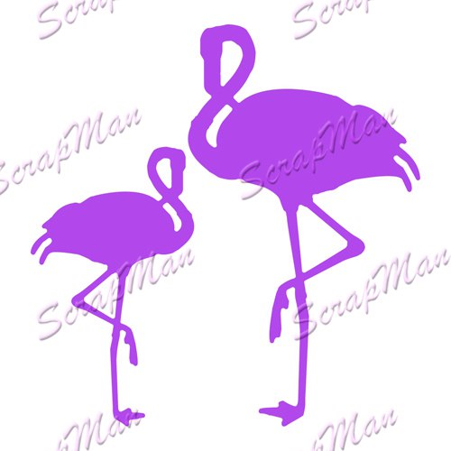 "Set of dies ""Flamingo"" ScrapMan"